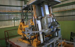 STC Tilting Rotary Furnace for clean metallic fraction